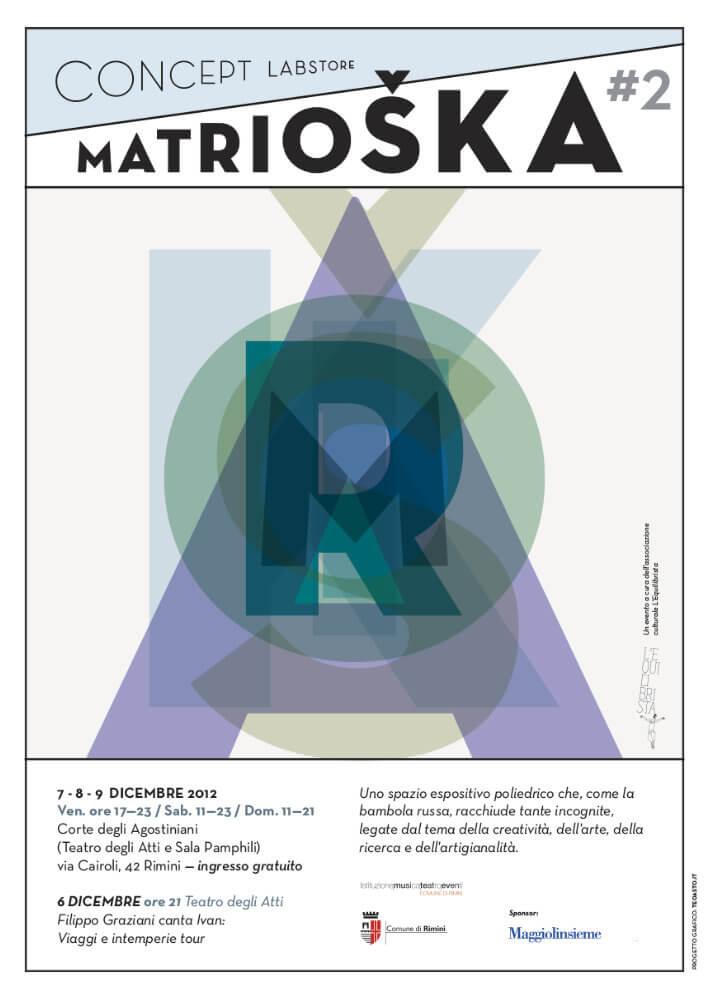 Matrioska Labstore Rimini - edizione #2 - dicembre 2012 / locandina
