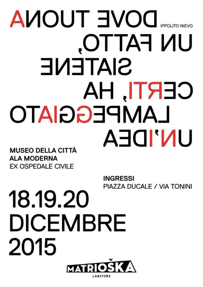 Matrioska Labstore Rimini - edizione #8 - dicembre 2015 / locandina